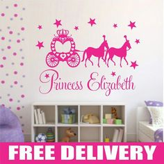 Princess wall stickers girls bedroom