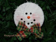 Recycled Can Snowman Ornament | FaveCrafts.com