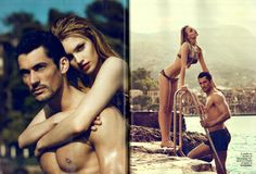 david+gandy+in+spain | Bathing Suits by Dolce&Gabbana