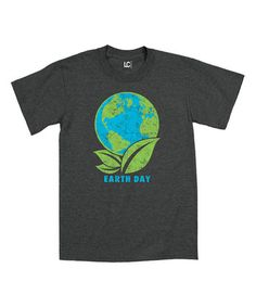 Look what I found on #zulily! Heather Charcoal 'Earth Day' Tee #zulilyfinds