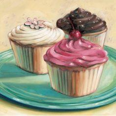 Tre Cupcakes - punto croce modello formato pdf