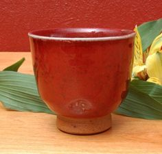 Chun Red Yunomi by D. Michael Coffee Cone 10