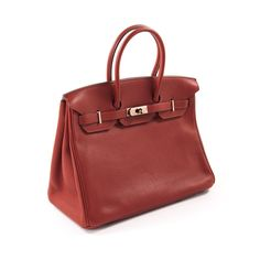 bbae40da3a Shop authentic Hermès Birkin 35 Ruby Red Togo Leather at revogue for just  USD 8
