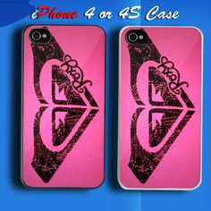 Roxy Surf Logo Custom iPhone 4 or 4S Case Cover
