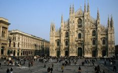The Duomo di Milano, Catholic Church-Cathedral, Milan, Italy. Milan Cathedral, Barcelona Cathedral, Monuments, Galleria Vittorio Emanuele Ii, Milan City, Belle Villa, Packing Tips For Travel, Best Cities, California Travel