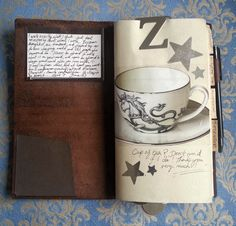 Filofancy | My Midori Traveler's Notebook, Journaling bliss with a nice cup of tea!