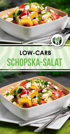 (Post-cooked) The Bulgarian Schopska salad is delicious low carb and gluten-free. (Post-cooked) The Bulgarian Schopska salad is delicious low carb and gluten-free. High Protein Low Carb, Low Carb Lunch, High Protein Recipes, Low Carb Diet, Low Carb Recipes, Cooking Recipes, Paleo Dinner, Family Meals, Ethnic Recipes