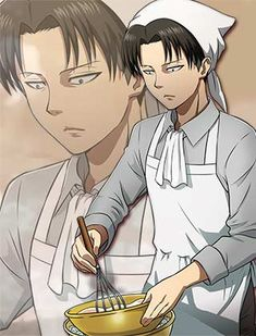Rivaille (Levi) cooking :3 - Shingeki no Kyojin (Attack on titan)