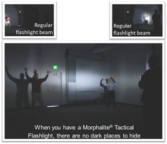 With Morphalite Tactical Flashlights, there are no dark places to hide!  Light up & blind multiple intruders at the same time.  Get the Tactical Advantage only Morphalite can provide!
