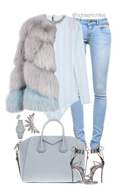 """Ice Cold ❄️"" by highfashionfiles ❤ liked on Polyvore featuring Anine Bing, Balmain, Milusha, Givenchy, Wet Seal, Dsquared2 and Audemars Piguet"