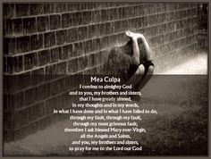 Mea Culpa Prayer
