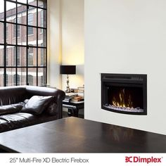 Multi-Fire XD Electric Firebox Living room Insert: Endless Opportunities, Perfect Home Comfort. For more of our custom fireplace inserts visit: http://www.dimplex.com/en/electric_fireplaces/fireboxes_inserts
