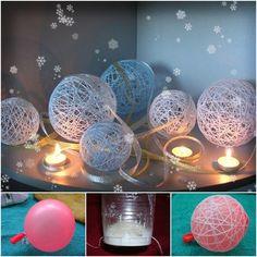 How to DIY Decorative Thread Christmas Balls