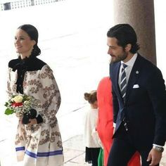 Prince Carl Philip and Princess Sofia attended a lunch at Stockholm City Hall in connection with the Canadian State Visit