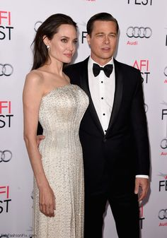 "Angelina Jolie and Brad Pitt at the opening night gala premiere of ""By the Sea"" during AFI FEST 2015 (November 2015). #angelinajolie #bradpitt"