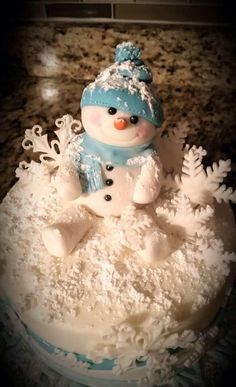 Snowman cake by Busy B's Cakes & Cupcakes