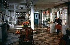 """""""White Christmas"""" Columbia Inn lobby Created for the movie, but who wouldn't want to stay here?"""