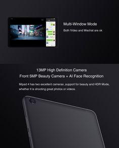 Original Box Xiaomi Mi Pad 4 4G LTE Version Snapdragon 660 4GB RAM 64GB 8 MIUI 9 OS Tablet PC Beauty Camera, Tablet, Computer Network, Pad, Office And School Supplies, Laptop Accessories, Computers, The Originals, Originals