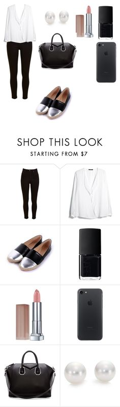 """Untitled #101"" by barbarapalvine22 ❤ liked on Polyvore featuring Lee, MANGO, NARS Cosmetics, Maybelline, Givenchy and Mikimoto"