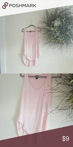 Mossimo pink tank Longer back, beautiful color Mossimo Supply Co Tops