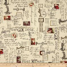 Dear Santa Text & Postmarks Ecru