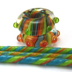 chestnutridgedesigns tutorial - how to make a striped bead