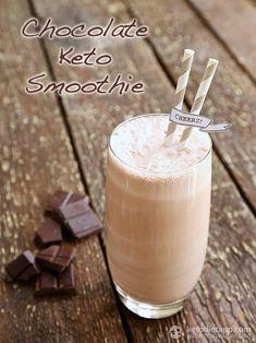 Chocolate Keto Smoothie (low-carb, paleo)