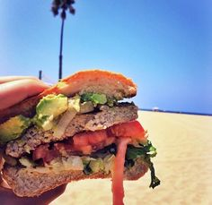 Is there anything better than this HUGE Guacamole Turkey Burger enjoyed on the beach from #PerrysCafeandRentals?  Try one TODAY and decide for yourself!