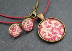 Ohrstecker - Schmuckset Kette & Ohrringe bronze - ein Designerstück von colorful-daydreams bei DaWanda