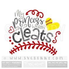My Princess Wears Cleats SVG / Softball Mom Shirts Softball Mom Svg / Softball Gifts / Softball Grandma Mimi / Kiss My Cleats Cut Files / Bg Softball Mom Shirts, Softball Gifts, Girls Softball, Baseball Shirts, Softball Things, Baseball Tips, Softball Bows, Softball Stuff, Cheerleading Gifts
