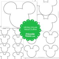 Printable Mickey Mouse Head Outline