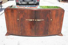 1stdibs | French Art Deco Palisander Rio  Steeped Top Buffet