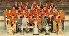The 1975 Philadelphia Flyers are the last team to raise Lord Stanley's Cup with a team comprised solely of Canadian-born players!