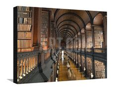The Long Room in the Old Library at Trinity College in Dublin Photographic Print by Chris Hill at Art.com