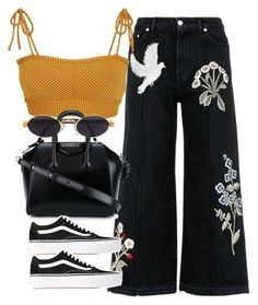 A fashion look from September 2017 by featuring Alexander McQueen Made By Dawn Vans Givenchy and Gianfranco Ferr Style Outfits, Hippie Outfits, Teen Fashion Outfits, Retro Outfits, Cute Casual Outfits, Summer Outfits, Vintage Outfits, Womens Fashion, Aesthetic Fashion