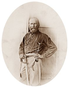 Portrait of Giuseppe Garibaldi in Palermo, July 1860. Photo by Gustave Le Gray