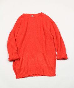 45R Lady's(レディース)のモヘアタムチュニックセーター(ニット/セーター)|レッド