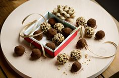 mint chocolate truffles, i'd love to make these as gifts next year.