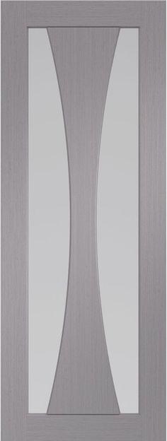 XL Joinery Internal Verona Light Grey with Clear Glass Glazed Internal Doors, Light Grey, Hanging, Light, Glass, Clear Glass, Safety Glass, Mirror, Door Color