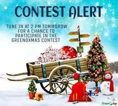 #Greenobag contest #GREENOXMAS on #facebook!  Tune in tommorow at 2 for a chance to participate