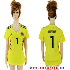 Columbia 1 OSPINA Home 2018 FIFA World Cup Women Soccer Jersey 1bfdbb568