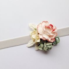 Sugar Flower Headband - Vintage Inspired Flowers - Millinery Flower Headband - Spring Headband - Pale Pink, Buttercream and Grey Flowers - POTLUCK STORE Grey Flowers, Sugar Flowers, Brag Book, Vintage Headbands, Pale Pink, Vintage Inspired, Stud Earrings, Trending Outfits, Store