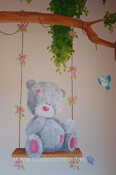 Baby Wall, Baby Girl Room Decor, Princess Nursery, Little Princess, Teddy Bear, Interior Design, Wall Art, Nest Design, Home Interior Design