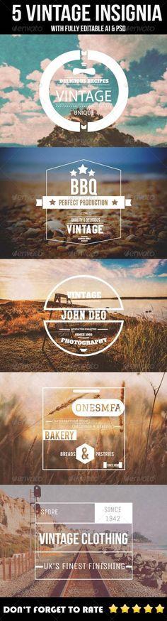 5 Vintage Insignia/Logo