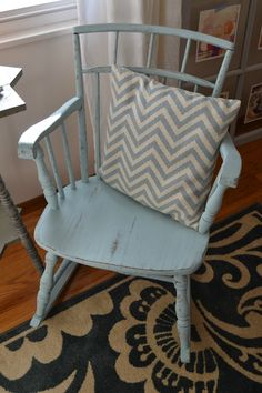 Painted Rocking Chair with Country Chic Paint - www.countrychicpaint.com/blog - #paintedfurniture #diy