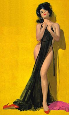 """This painting appeared on the cover of a paperback by Hank Janson titled """"The Brazen Seductress"""" http://pulpcovers.com/braze..."""