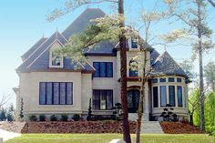 Majestic Storybook Castle - 12217JL | European, French Country, Luxury, Photo Gallery, 1st Floor Master Suite, CAD Available, Den-Office-Library-Study, Jack & Jill Bath, Media-Game-Home Theater, PDF, Corner Lot | Architectural Designs
