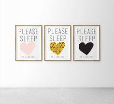 Please Sleep |Blush |  Leopard | Monochrome Hello Yellow