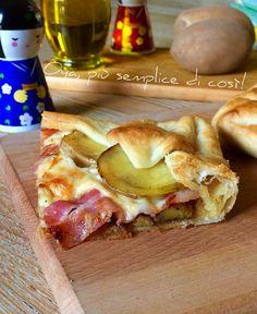 Torta+rustica+patate+e+bacon,+ricetta+ricca+e+saporita Sandwiches, Paninis