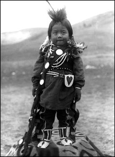 :::::::: Vintage Photograph :::::::::Darling NezPerce boy, Colville Indian Reservation, Washington, ca. 1903.